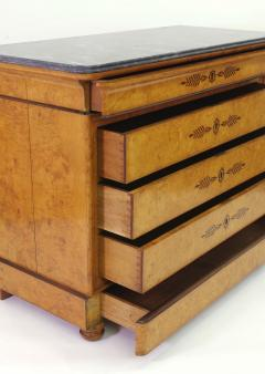 French Restauration Burr Ash Chest of Drawers c 1825 - 755573