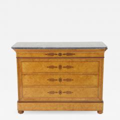 French Restauration Burr Ash Chest of Drawers c 1825 - 756050
