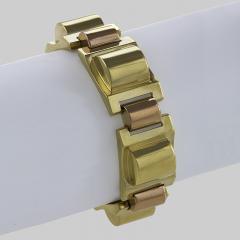 French Retro Gold Tank Track Bracelet - 112351