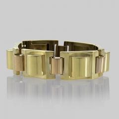 French Retro Gold Tank Track Bracelet - 112353
