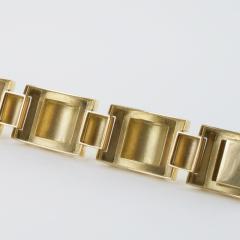 French Retro Gold Tank Track Bracelet - 112355