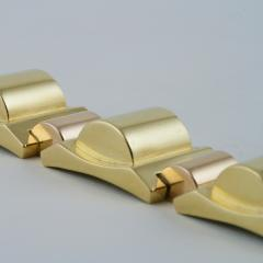 French Retro Gold Tank Track Bracelet - 112356