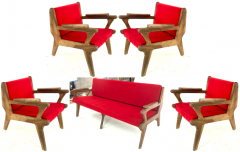 French Riviera awesome olive tree brutalist seating set of 1 couch and 4 chairs - 1679849