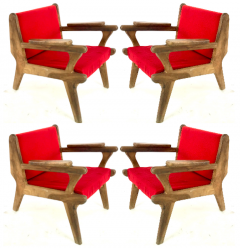 French Riviera awesome olive tree brutalist seating set of 1 couch and 4 chairs - 1679851