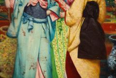 French School A Fine French Japonisme Oil on Canvas Painting of Three Geishas C 1900 - 2128765