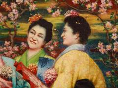 French School A Fine French Japonisme Oil on Canvas Painting of Three Geishas C 1900 - 2128768
