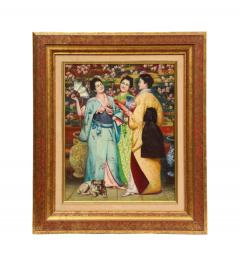 French School A Fine French Japonisme Oil on Canvas Painting of Three Geishas C 1900 - 2128769