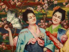 French School A Fine French Japonisme Oil on Canvas Painting of Three Geishas C 1900 - 2128770