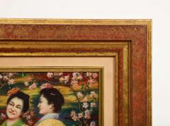 French School A Fine French Japonisme Oil on Canvas Painting of Three Geishas C 1900 - 2128771