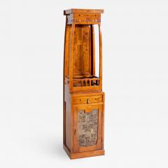 French School Antique French Liberty Cabinet in Painted Wood Art Nouveau - 2144645