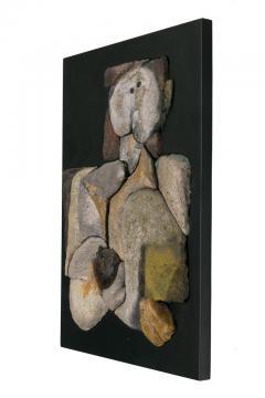 French Sculptural Ceramic Raku Panel - 1090045