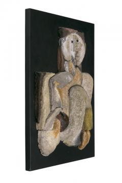 French Sculptural Ceramic Raku Panel - 1090046
