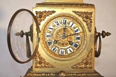 French Second Empire Bronze Dore Mantle Clock - 2066388
