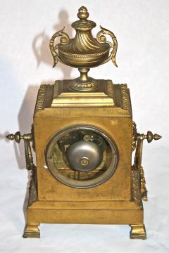 French Second Empire Bronze Dore Mantle Clock - 2066389