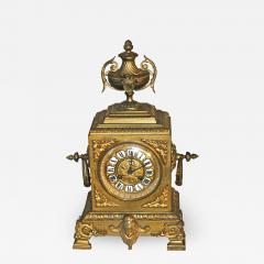 French Second Empire Bronze Dore Mantle Clock - 2068962