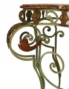 French Victorian Iron and Marble Console Table - 1427932