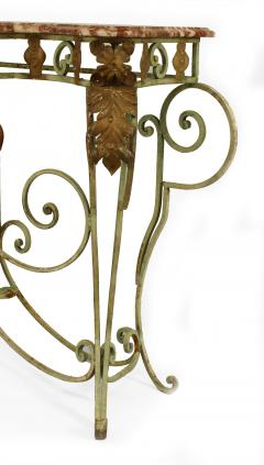French Victorian Iron and Marble Console Table - 1427933