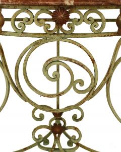 French Victorian Iron and Marble Console Table - 1427934