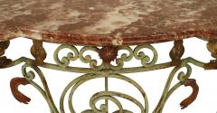 French Victorian Iron and Marble Console Table - 1427935
