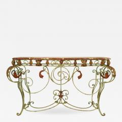 French Victorian Iron and Marble Console Table - 1430468
