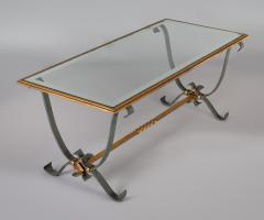 French Vintage Iron and Glass Coffee Table - 1198250