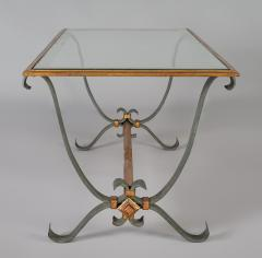 French Vintage Iron and Glass Coffee Table - 1198251