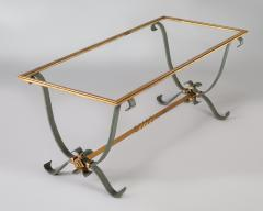 French Vintage Iron and Glass Coffee Table - 1198254
