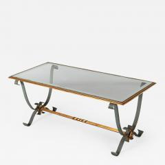 French Vintage Iron and Glass Coffee Table - 1198971