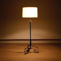 French Wrought Iron Floor Lamp with Gilding - 1765049