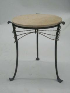 French Wrought Iron and Partially Gilt Side Table - 1877099