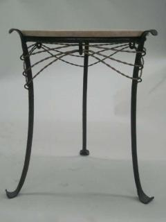 French Wrought Iron and Partially Gilt Side Table - 1877100