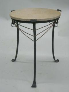 French Wrought Iron and Partially Gilt Side Table - 1877101