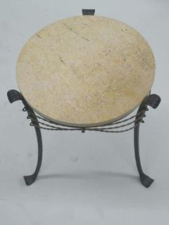 French Wrought Iron and Partially Gilt Side Table - 1877102