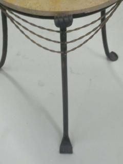 French Wrought Iron and Partially Gilt Side Table - 1877103