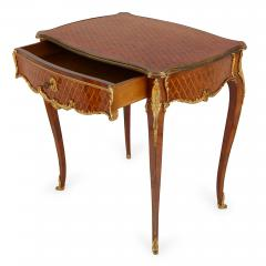 French antique parquetry side table in Louis XV style - 2003864
