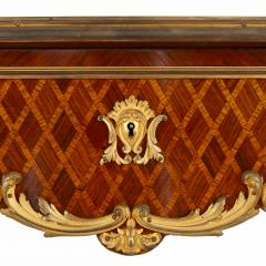 French antique parquetry side table in Louis XV style - 2003874