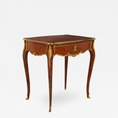 French antique parquetry side table in Louis XV style - 2010206