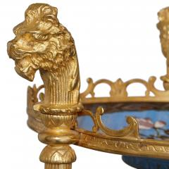 French cloisonn enamel and gilt metal three shelf tiered table in Empire style - 1942658