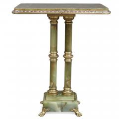 French green onyx side table mounted with gilt bronze and enamel - 2013600