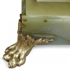French green onyx side table mounted with gilt bronze and enamel - 2013605