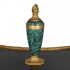 French malachite gilt and patinated bronze centre table - 1683150