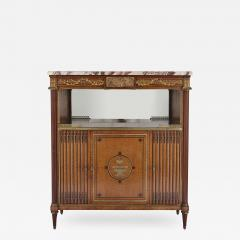 French marble gilt bronze and amboyna burl side cabinet - 1461840