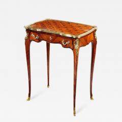 French parquetry side table - 816095