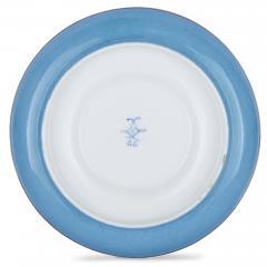 French silver and bleu celeste porcelain tea set - 2045144