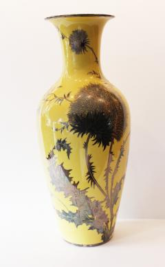 Friedrich Deusch An Impressive Imperial Yellow Rosenthal Silver Overlay and Enamel Tall Vase - 354275