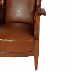 Frits Henningsen 1940s Frits Henningsen attribution Wing back mahogany armchair - 1459348