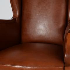 Frits Henningsen 1940s Frits Henningsen attribution Wing back mahogany armchair - 1459352