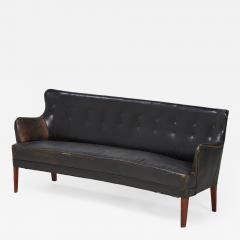 Frits Henningsen 1940s Leather Sofa by Frits Henningsen - 1109370