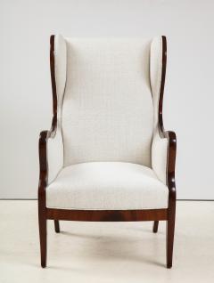 Frits Henningsen A Frits Henningsen Mahogany and Upholstered Wing Chair Circa 1940 50 - 1996687