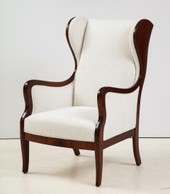 Frits Henningsen A Frits Henningsen Mahogany and Upholstered Wing Chair Circa 1940 50 - 1996688